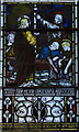 TQ6404 : Detail, East Window, St Nicholas' church, Pevensey by Julian P Guffogg