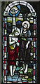 TQ6404 : Stained glass window, St Mary's church, Westham  by Julian P Guffogg