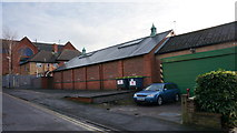 SK4641 : Former Drill Hall, Albert Street, rifle range by Peter Barr