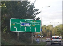 TG2103 : A140 at the Norwich bypass by N Chadwick