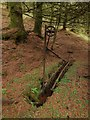 NS3482 : Remnants of rifle range pulley system by Lairich Rig