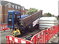 SP2965 : Auger in position, Emscote Road, Warwick by Robin Stott