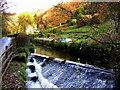 ST4593 : Weir on the Castrogi Brook by Jonathan Billinger