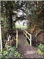 TM3485 : Footbridge on footpath to St.Margaret's Church by Adrian Cable