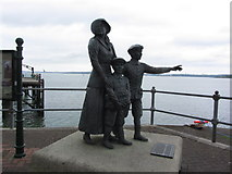 W7966 : Cobh - Statue to Annie Moore; First immigrant to Ellis Island USA by Colin Park