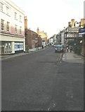 TQ7567 : Looking east-northeast along High Street, Chatham by John Baker