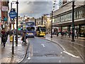 SJ8498 : Buses and Trams Only on Mosley Street by David Dixon