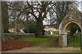SP5018 : Bletchingdon: churchyard extension and stables by Christopher Hilton