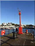 SX9163 : The end of the western pier, Torquay harbour by David Smith