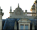 TG0318 : Crest of arms on the roof of Bylaugh Hall by Evelyn Simak