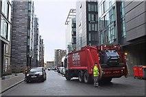 NT2572 : Emptying the bins, Simpson Loan Edinburgh by Jim Barton
