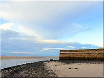 NU1535 : Old pier near Budle Newtown Caravan Site by Andrew Curtis