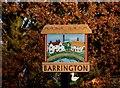 TL3949 : Barrington village sign by Bikeboy