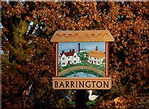 TL3949 : Barrington village sign by Bikeboy