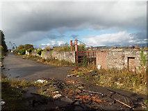 NS3174 : Former Glen shipyard gate by Thomas Nugent