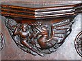 SJ8398 : Wyvern Misericord by David Dixon