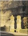 SX9164 : Gate piers, St Mary Magdalene church, Torquay by Derek Harper