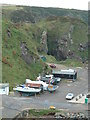 NJ4868 : Boats and Buildings by Portknockie Harbour by Peter Bond