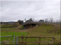 SX9796 : Footbridge over M5 between Poltimore and Broadclyst by David Smith