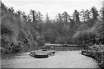 SP6989 : Foot of abandoned Foxton inclined plane, 1960 by Robin Webster