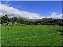 NY3704 : View towards Fairfield from meadows by River Rothay, Ambleside by Colin Park
