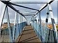 SE7524 : Railway footbridge by Graham Hogg
