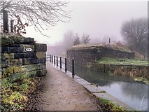 SD7807 : Former Bridge Abutments, Manchester, Bolton and Bury Canal by David Dixon