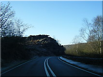 SK2773 : A621 Sheffield Road heading for Baslow by Colin Pyle