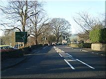 SK2572 : A619 Church Lane, Baslow by Colin Pyle