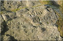 SO2718 : Names etched in the rock on Sugar Loaf by Philip Halling