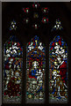 SK9771 : Stained glass window, St Swithin's church, Lincoln by Julian P Guffogg