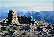 NH0068 : The trig point on Slioch by Walter Baxter