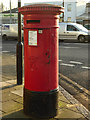 TQ3193 : Victorian Pillar Box, Hedge Lane, Palmers Green, London N13 by Christine Matthews