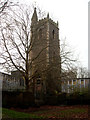 ST5873 : Church tower of St. Mary-le-Port, High Street by Vieve Forward