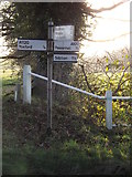 TM3869 : Roadsign on the A1120 Yoxford Road by Adrian Cable