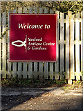 TM3869 : Yoxford Antiques Centre sign by Adrian Cable