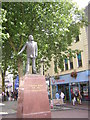 ST1876 : Aneurin Bevan statue, Queen Street, Cardiff by Christopher Hilton