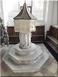 TM3669 : Font of St.Peter's Church by Geographer