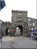 SX3384 : Launceston - Southgate Arch by Colin Park