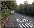 SJ2837 : Weight limit ahead across Chirk Bridge by Jaggery
