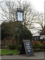 TL3758 : The Blue Lion Public House sign by Adrian Cable