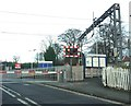 SJ8055 : Level crossing at the entrance to Alsager Railway Station by Jonathan Hutchins