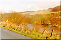 NT4933 : Rainbow over River Tweed at Boleside, 1989 by Ben Brooksbank