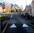 SO2118 : Two-way traffic ahead, Standard Street, Crickhowell by Jaggery
