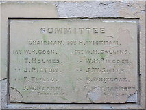TQ7868 : Dedication Plaque 2, Medway House by David Anstiss