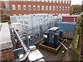 SO8754 : Portable generators - Worcestershire Royal Hospital by Chris Allen