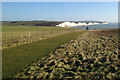 TV5097 : View of the Seven Sisters from Seaford Head, Christmas Day 2014, 12:00 by Robin Stott