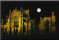 NT5434 : Moonrise over Melrose Abbey by Walter Baxter