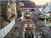 NT4836 : Borders Railway construction works in Galashiels by Walter Baxter