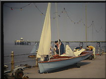 ST4071 : Looking from the esplanade out to the pier by Roger Machell